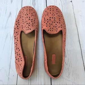 OluKai Momi Pink Coral Suede Slip On Shoes 7.5